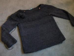 Cobblestone sweater, handspun/handknit