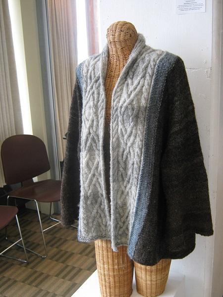 Kimono-style handspun sweater