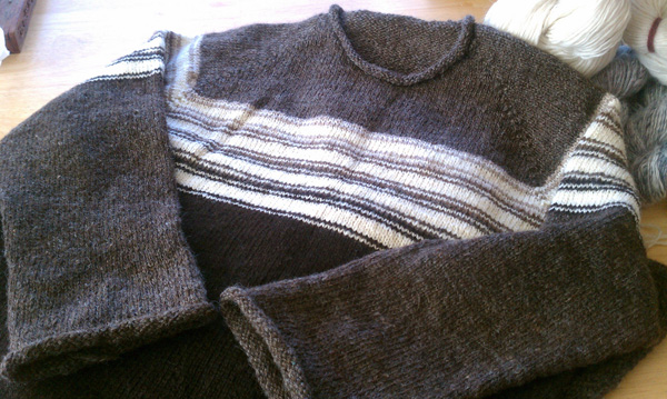 Natural colors wool raglan sleeve sweater