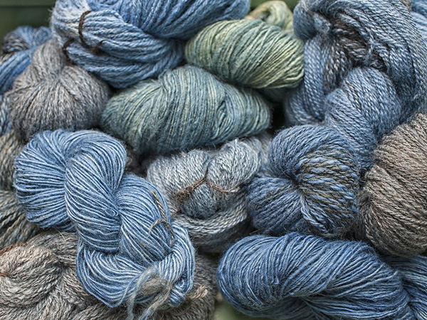 Indigo Dyed Handspun Yarn